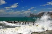 Storm at the sea shore — Stock Photo