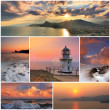 Collage of sea landscapes — Foto de Stock