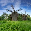 Stock Photo: Windmills on blue sky