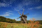 Windmills on blue sky — Stock Photo