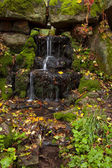 Waterfall in the autumn forest — Stock Photo