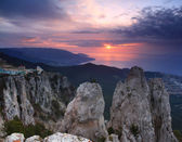 Sunset in the mountains — Foto de Stock