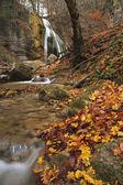 Herfst waterval in het forest — Stockfoto