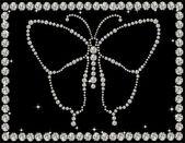 Diamond butterfly, vector illustration  — Stock Vector