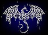 Diamond dragon — Stockvektor