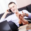 Business man talking on phone. — Stock Photo