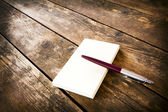 Ball point pen and notepad. — Stock Photo