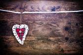 Antecedentes del día de san valentín con corazones. — Foto de Stock