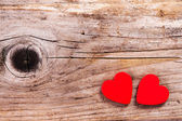 Valentines Day background with heart symbols. — Stock Photo