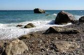 Marine rocky shore — Stock Photo