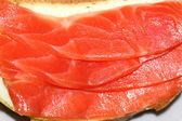 Sandwich with red fish trout — Stock Photo