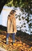The girl in a beautiful coat — Stock Photo