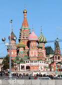 St. Basil's Cathedral in Moscow — 图库照片