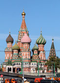 Red square, st. basil's cathedral — Stockfoto