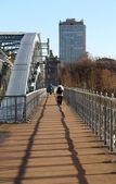 Andrew pedestrian bridge in Moscow — Stock Photo