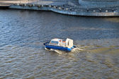 Hovercraft in the Moscow River — Stock Photo