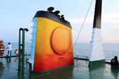 Dawn on the ferry — Stock Photo