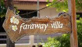 Faraway villa — Стоковое фото