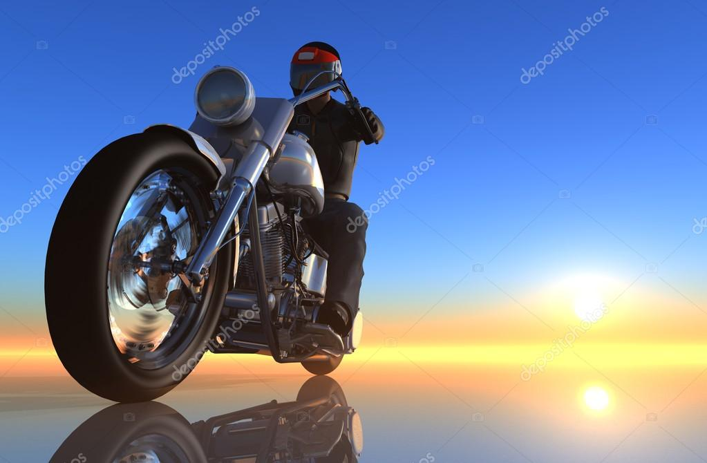 The graphic image of a motorcycle   — Stock Photo #12756569