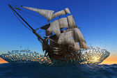 Sailboat in the sea. — Stock Photo