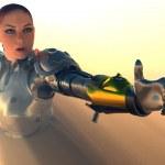 Cyborg Mädchen — Stockfoto
