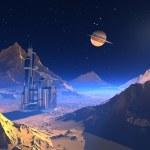 Space landscape. — Stock Photo