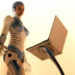 Cyborg girl — Stock Photo