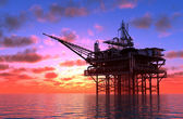 Produkcja ropy naftowej — Zdjęcie stockowe