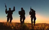 Um grupo de soldados — Foto Stock