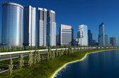City skyscraper — Stock Photo