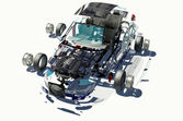 Disassembled car. — Stock Photo