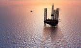 石油化学のタワー — ストック写真