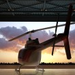 Civilian helicopter — Stock Photo