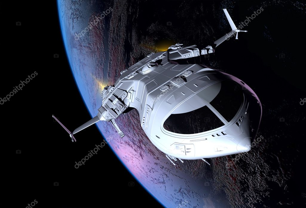 太空飞船在外层空间