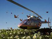 гражданский вертолет — Стоковое фото