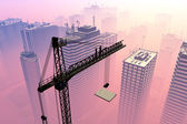 Construction crane — Stockfoto