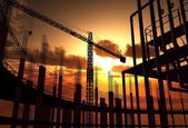Construction of a building — Foto Stock