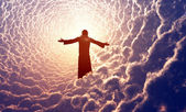 Jesus in the clouds. — Stock Photo