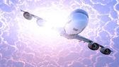 Samolot pasażerski — Zdjęcie stockowe