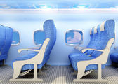 Interior passenger aircraft. — Stock Photo