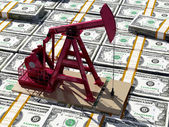 Oil and dollars. — Stock Photo