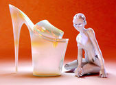 Glass shoes — Stock Photo