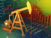 Oil and graphs — Stock Photo