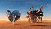 The solar battery — Stock Photo