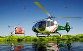 Civilian helicopter — Stock Photo