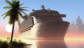 Cruise liner — Stock Photo