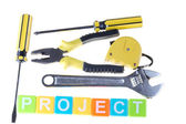 Project concept — Stockfoto