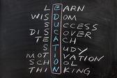 Education concept crosswords — Stock Photo