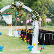 Stock Photo: Wedding flower arch