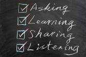 Concepto de métodos de aprendizaje — Foto de Stock